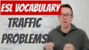 English lesson - Words we use to talk about problems with TRAFFIC - palabras inglesas