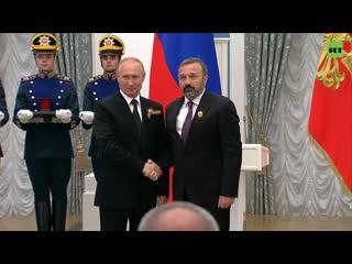 Церемония вручения государственных премий в Кремле в области науки и технологий