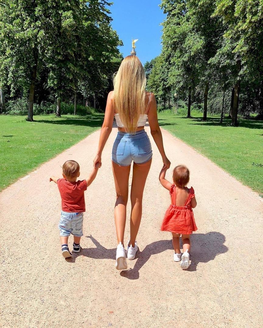 Мама двоих детей в прекрасной форме