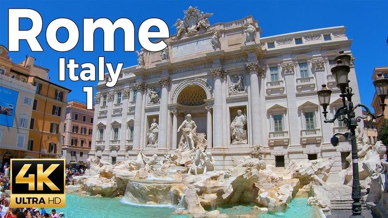 Rome Italy Walking Tour Part 1 4k Ultra HD 60fps