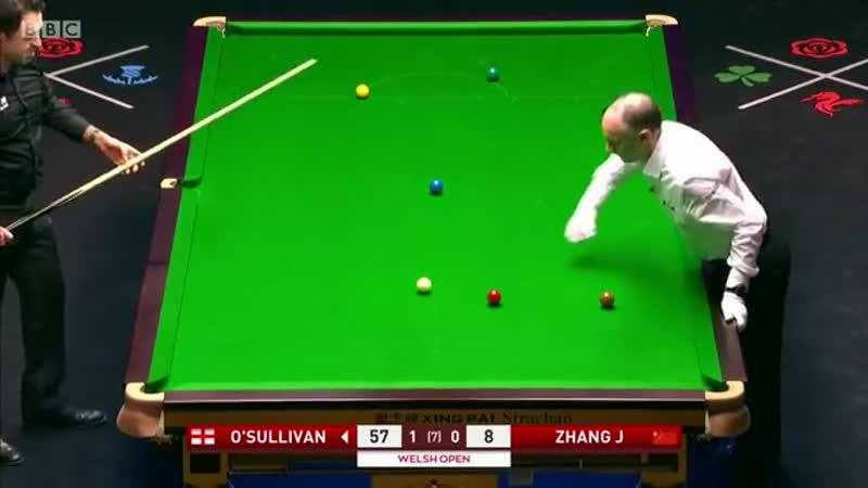 Ronnie O'Sullivan vs Zhang Jiankang 2020 Welsh Open