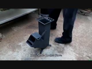 Самодельная печь Ракета