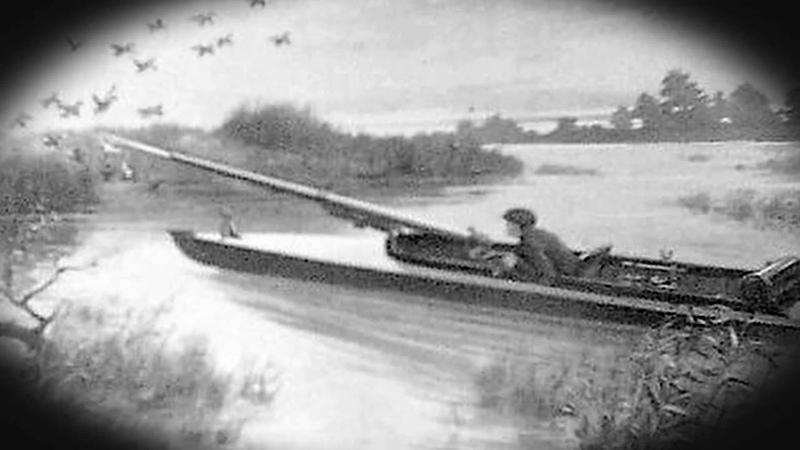 Punt Gun firing on Fens