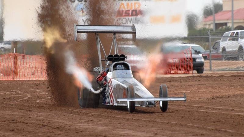 100 км ч за 0 8 сек 11 000 л с Top fuel Dragster Sand Dirt Drag Racing