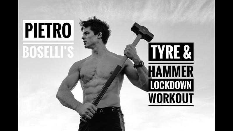 Lockdown workout Tyre Hammer Harper's Bazaar