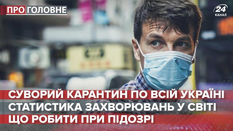 Суворий карантин в Україні Про головне 16 березня 2020