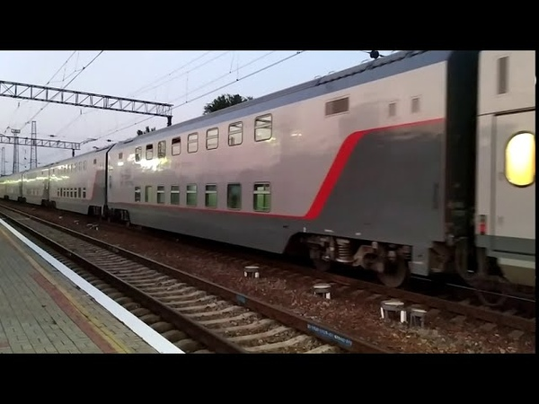 ОТПРАВЛЕНИЕ двухэтажного и пригородного поездов со ст Джанкой КЖД Крым