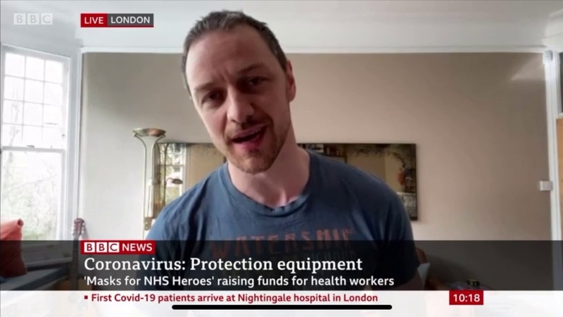 James McAvoy on BBC News talking about the Masks4Heroes crowdfunder