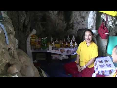 Lama Zopa Rinpoche's visit to Maratika Cave with Khandro la 2010