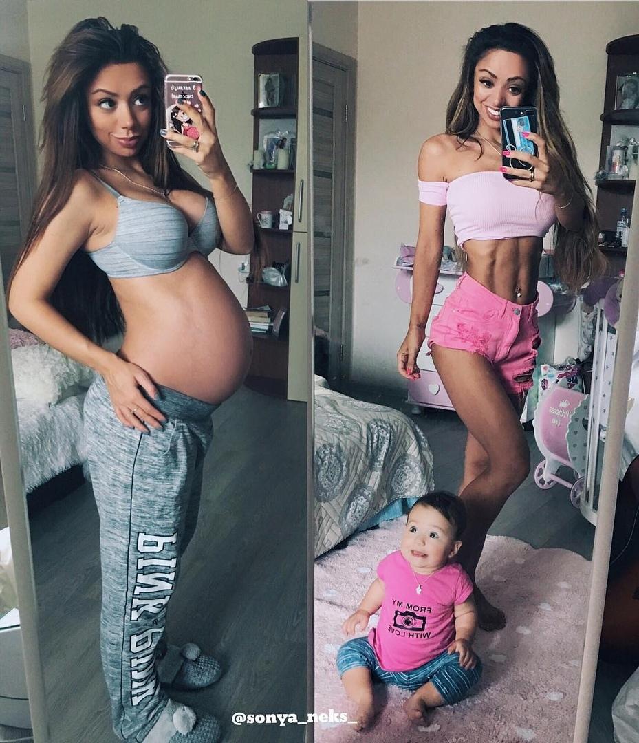После родов взялась за себя