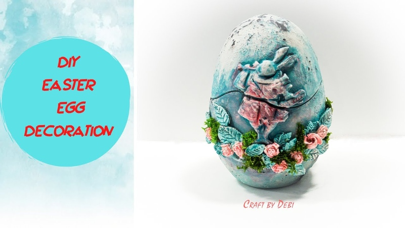 Diy Easter Egg Decoration With Clay Πασχαλινό Αυγό με Πηλό Craft by Debi