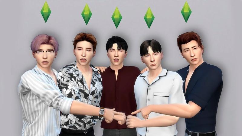 создаю своих азиатских крашей в Sims 4