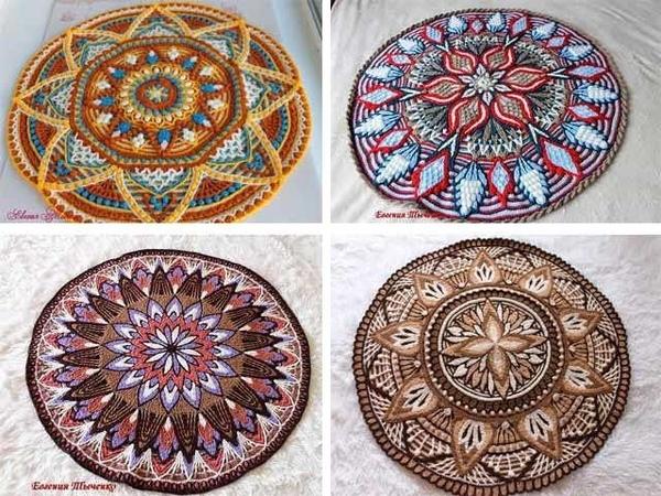Amazing Overlay Crochet Rug collection.