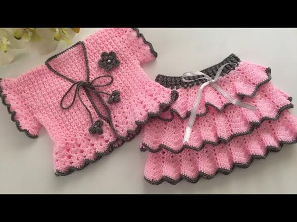 Fırfırlı 3 Katlı Bebek Eteği Nasıl YapılırFarbalalı Bebek EteğiBaby DressBaby Skirt