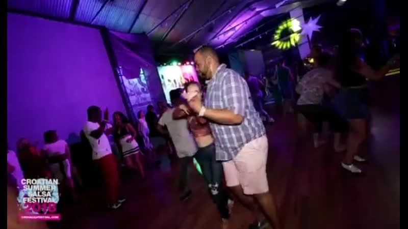 Ernesto Denisse Alex Morel social dancing in Rovinj @Croatian Summer Salsa Festival 2018