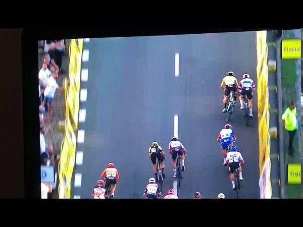 Tour de Pologne. Crash neear to end.