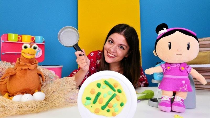 Kız oyunları Oyuncak Şila ve İrem ile yemek yapma videoları Çizgi film oyuncakları