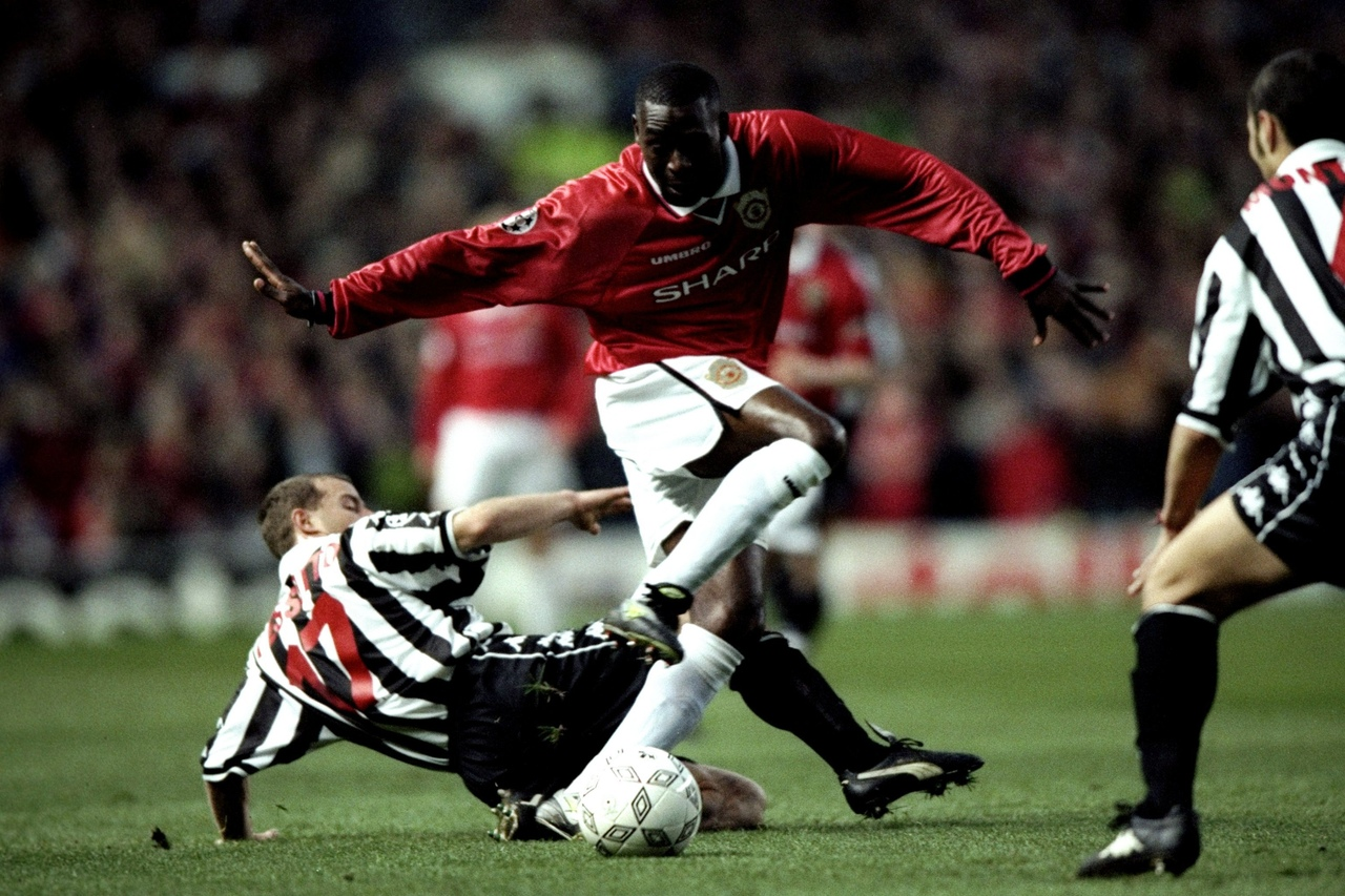Манчестер Юнайтед - Ювентус. 1/2 Лиги чемпионов 1999. Энди Коул