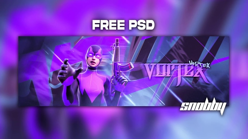 FORTNITE HEADER TEMPLATE (( FREE PSD ))SNOBBY