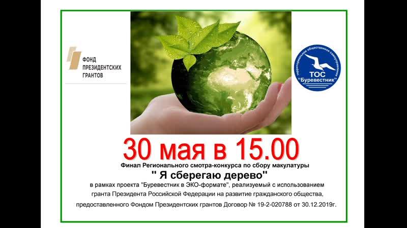Финал Регионального смотра конкурса Я сберегаю дерево в рамках проекта Буревестник в ЭКО формате