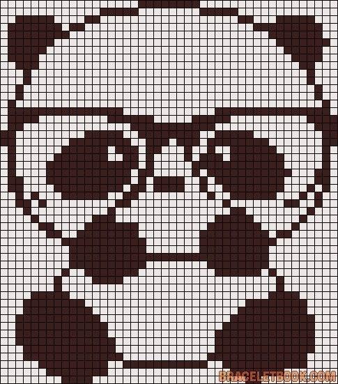 старается рисунки по клеточкам панды картинки любит