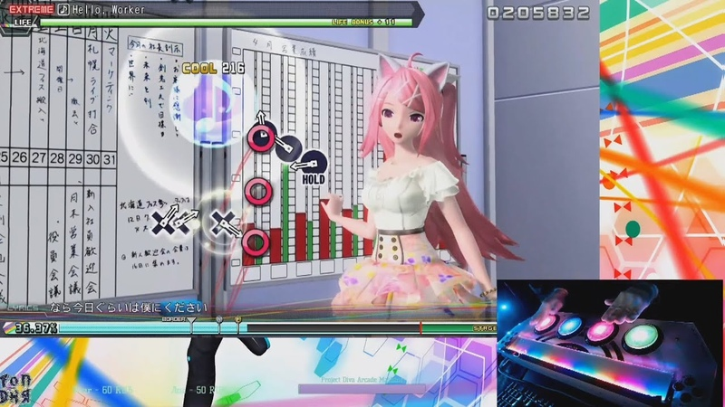ARCADE CONTROLLER Hello Worker Project DIVA FutureTone DX EXTREME PERFECT