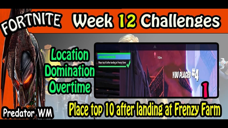 Place top 10 after landing at Frenzy Farm Location Domination Overtime Challenges