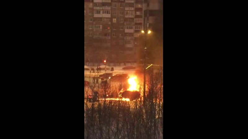 УАЗ сгорел на Первомайке