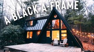A Black A-Frame Airbnb Tour!   A-Frame Cabin!