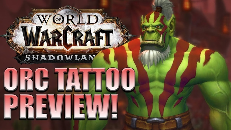 Orc TATTOOS! Male/Female Customization Options | Shadowlands Alpha