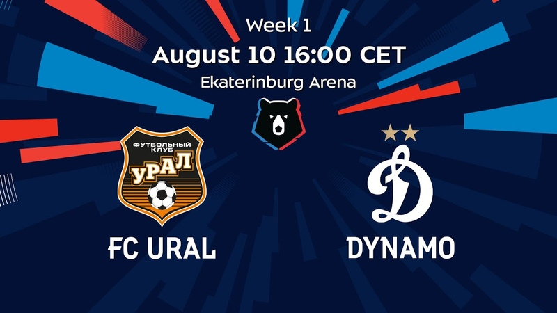 Ural vs Dynamo Week 1 RPL 2020 21