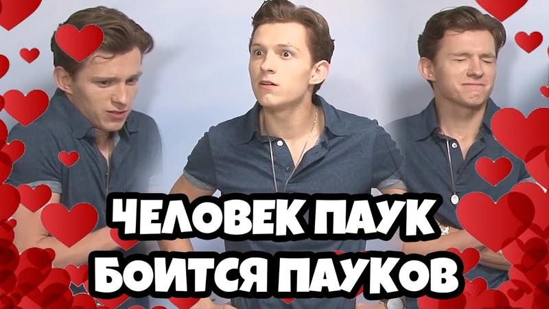 Том Холланд боится пауков 5 минут (RUS VO)