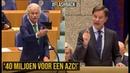 Wilders(PVV) v Premier Rutte; 'Asielzoekers krijgen het wel, maar onze eigen mensen niet!' - YouTube