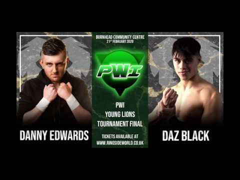 Danny Edwards vs Daz Black Young Lions Cup Final Pro Wrestling Innovation 21st Feb 2020