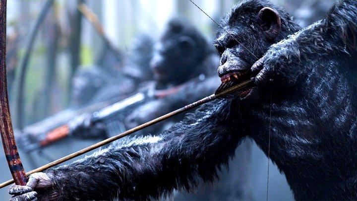 Планета обезьян Война HD фантастика боевик драма приключения 2017