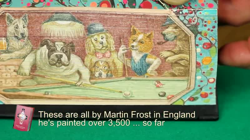 Fore edge Showcase 10 books with amazing vanishing pictures online video