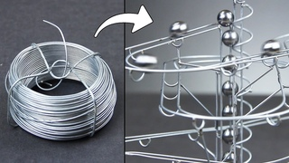 How to make a STEEL MARBLE TRACK with basic tools! step by step guide