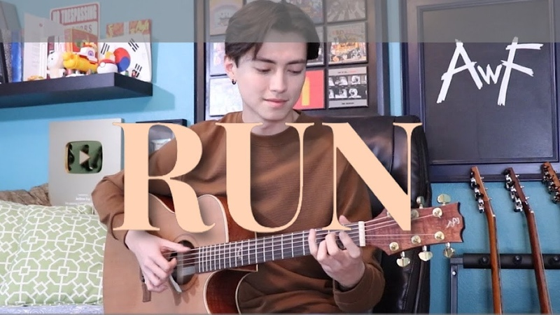 Run with solo Joji Cover fingerstyle guitar