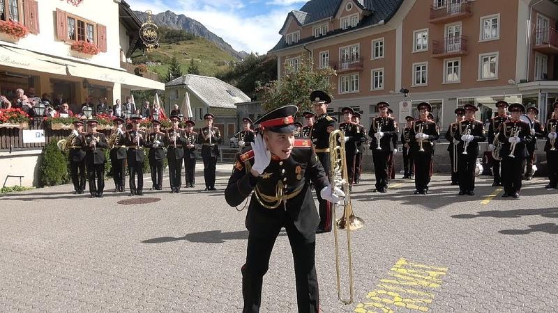 Suworow Kadetten in Andermatt 24 09 2019 Суворовские курсанты в Андерматте Швейцария