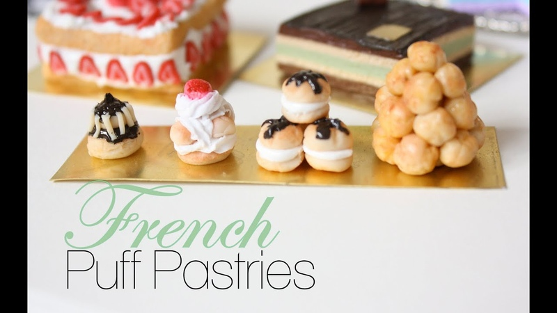 French Puff Pastries French Pastries Desserts Episode 1 Polymer Clay Tutorial