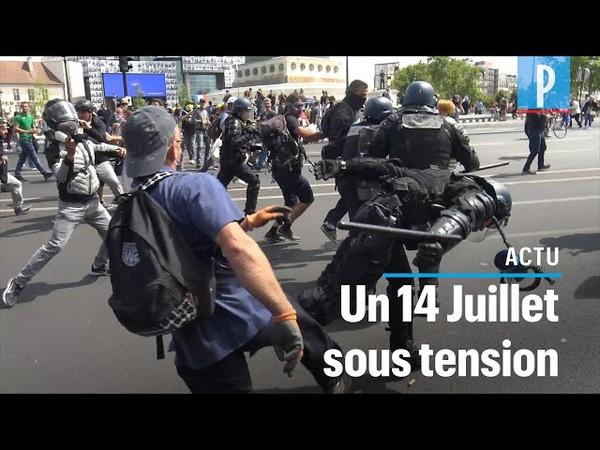 14 juillet des gendarmes pris à partie en marge de la manifestation des personnels soignants
