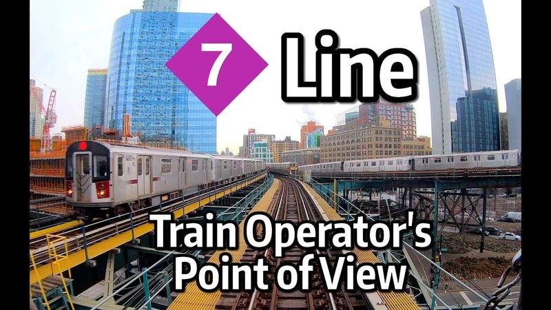 ⁴ᴷ⁶⁰ NYC Subway Front Window View The Manhattan Bound 7 Express Line