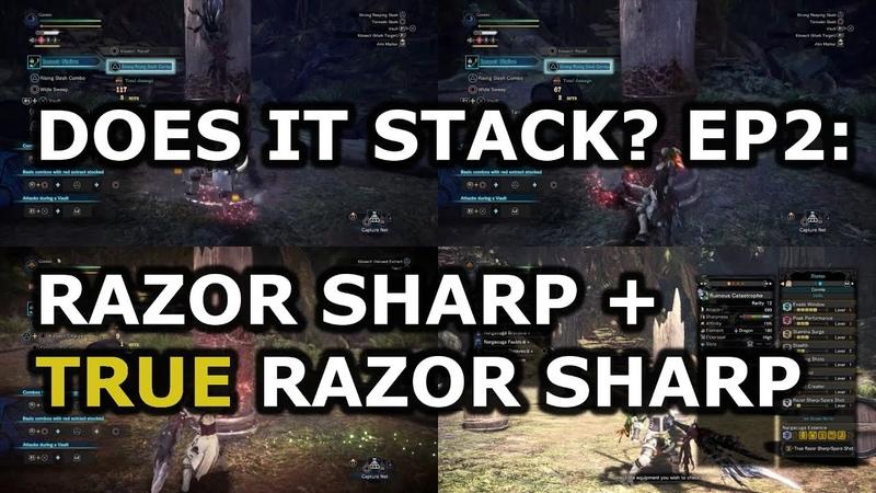 MHW IB 4x Longer Sharpness Does It Stack Episode 2 Razor Sharp True Razor Sharp