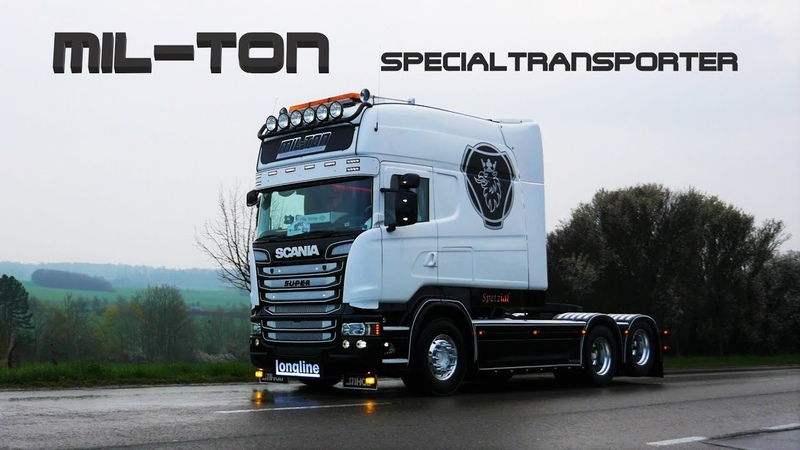 MIL TON Specialtransporter SCANIA R520 V8 Longline