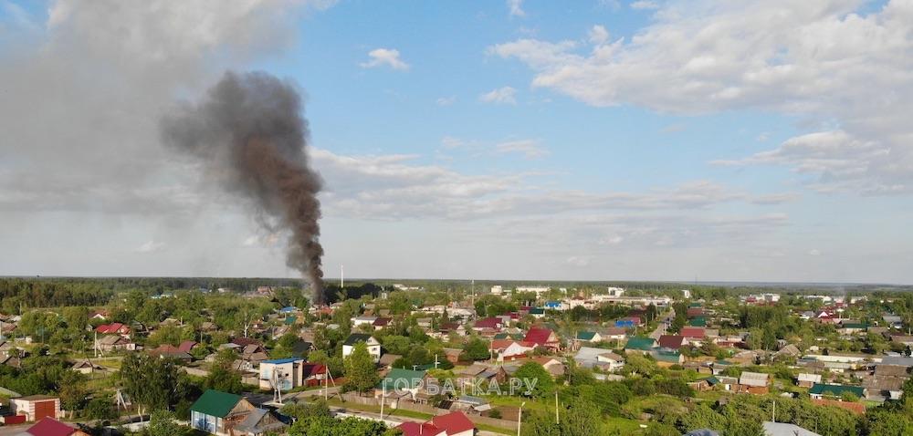 На улице Озерная в Красной Горбатке произошёл пожар