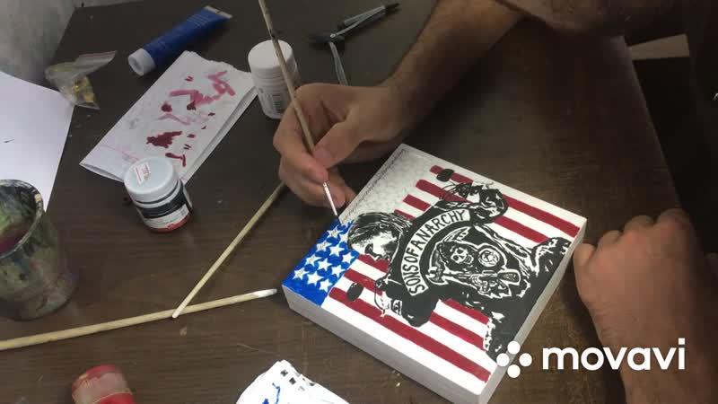Фан-арт Box Sons of Anarchy _ hand work