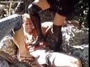 Boots Heels trampling outdoors