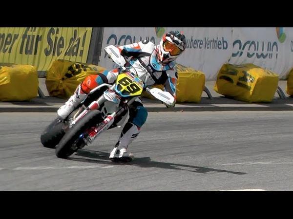 Supermoto Drifts Jumps Crashes iDM St Wendel 2016