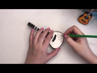 DIY Miniature Guitar from cardboard - Cardboard craft - Simple