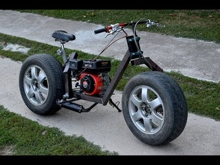Homemade 200cc MOTORCYCLE of CAR TIRES !?  / PART 1
